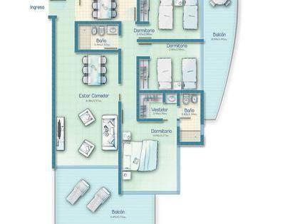 Icon Brava, 3 Dormitorios, 2 Baños, Disponible Febrero!