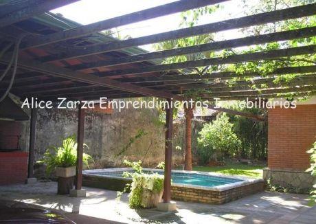 Vendo En San Bernardino Casa Amoblada Toda En Una Planta Con Hermoso Parque E Inmejorable Ubicación