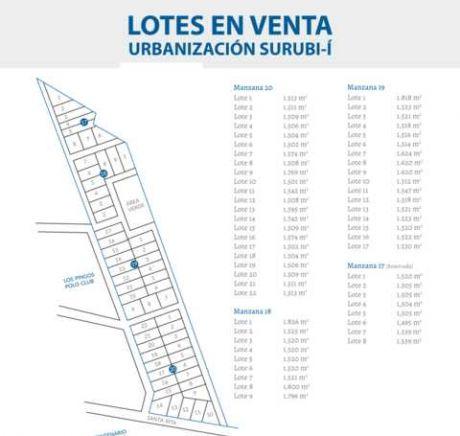 Lotes En Urbanización  Surubi´I, En Mariano Roque Alonso