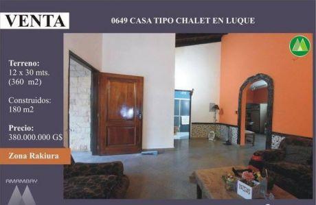0649 Casa Tipo Chalet En Luque, Zona Rakiura