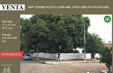 0697 Terreno En Lambare, Zona Bruno Guggiari