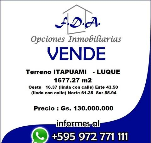 Vendo 1677 M2   Itapuami   Luque