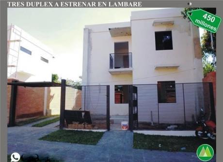 Duplex A Estrenar En Venta En Lambare.