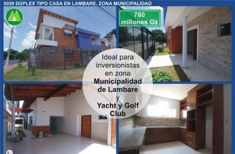 Duplex En Lambare, Zona Municipalidad