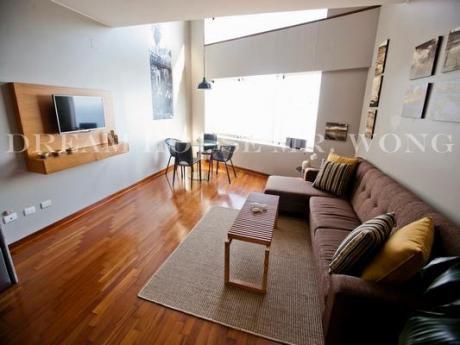 Alquiler De Moderno Dpto. Duplex Full Amoblado - Miraflores