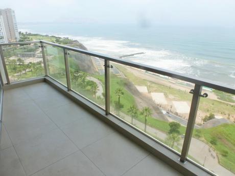 Venta Miraflores Departamento De Estreno Frente Al Mar, 2 Dorm., Terraza