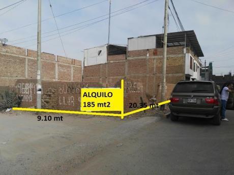 Alquilo! Terreno En Esquina, Natasha Alta, Detrás Del Centro Jurídico De Upao