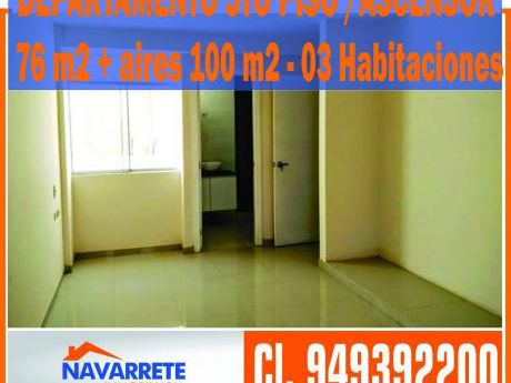 Departamento Estreno 76 M2 + Aires 100 M2 - Urb. Covicorti
