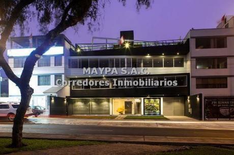 Excelente Oficina En Alquiler - Javier Prado - Santa Patricia (4b)