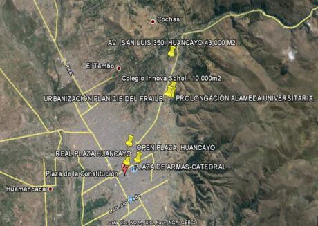 Terrenos En Huancayo. Av San Luis Cdra 3. At 40,000 M2 C/ U.