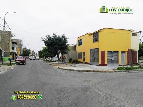 Remate Casa + Local Comercial, Esquina,2 Pisos,161 M2,210 M2,3 Hab, Cochera, La Noria