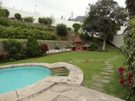Casa En La Molina - Rinconada Alta, 1776 M2. Hermosa Y Acogedora!