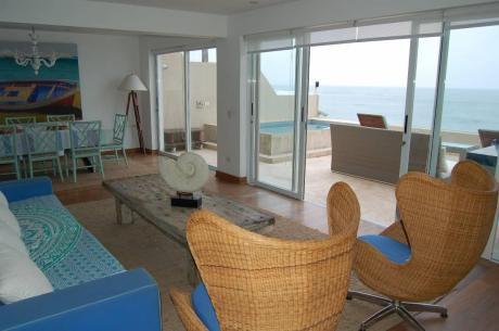 Casa De Playa, Primer Fila, 6 Dorms, Playa Señoritas, Punta Hermosa
