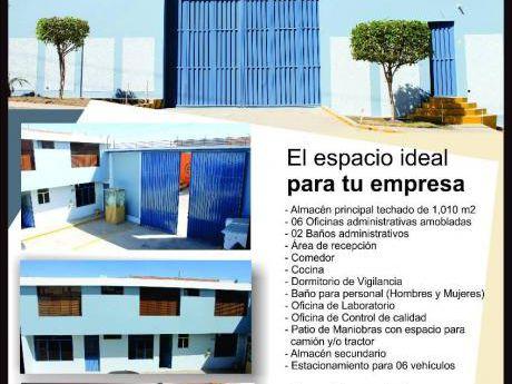 Alquiler De Almacén + Oficinas En Parque Industrial De Río Seco Arequipa