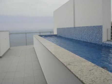 Exclusivo Duplex Pent House Amoblado Y Equipado Frente Al Mar Amplias Terrazas