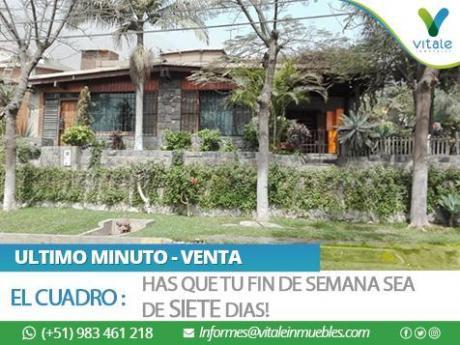 Acogedora Casa En Esquina, 4 Dorm - Urb. El Cuadro