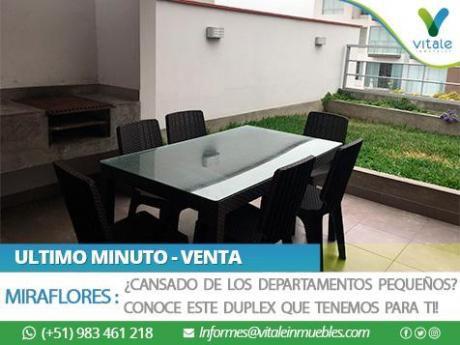 Amplio Duplex En Miraflores Con Jardín Y Parrilla Propio