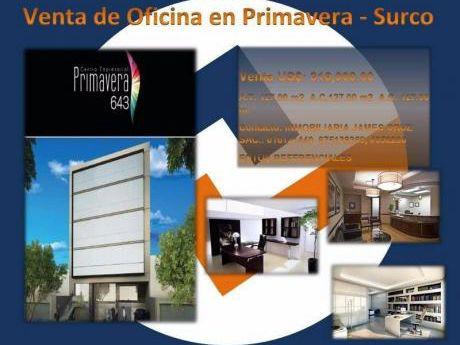 Venta Oficinas En Primavera, Chacarilla!