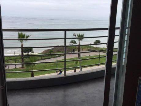 Alquilo Departamento Vista Al Mar, Amoblado Malecón De La Marina, Miraflores
