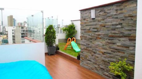 ¡espectacular Duplex 248 M2 Amoblado En Av La Paz, Miraflores - Venta!