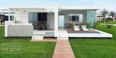 Exclusiva Casa De Playa En Venta Condominio Palabritas Asia 1ra Fila! Us$980,000