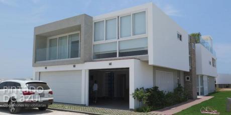 Venta Casa De Playa En Condominio La Jolla, Estreno, Equipada Amoblada!