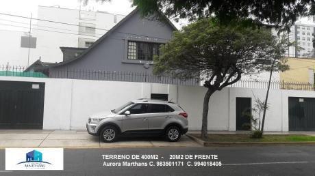 Venta De Terreno En San Isidro - Excelente Ubicacion Zona Residencial 400 M2