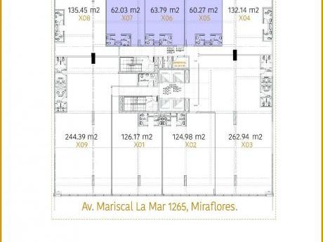 Oficina 60 M2 En Alquiler Miraflores