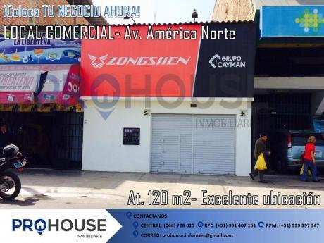 Alquiler Excelente Local Comercial: Av América Norte Costado De Edificar