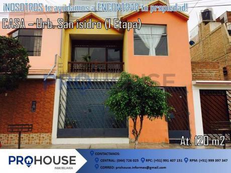 En Venta: Acogedora Casa Urb. San Isidro I Etapa Ac. 120 M2
