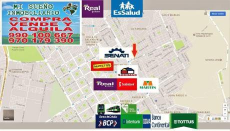 Terreno Comercial Económico De 260 M2, Tablada De Lurín Villamariadeltriunfo.