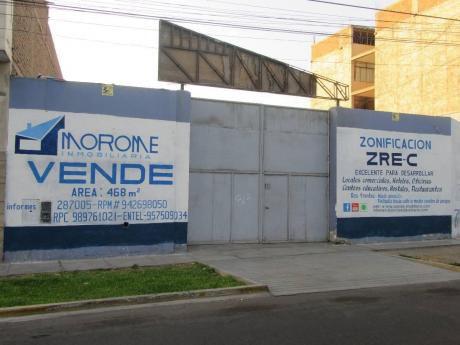 Av Miraflores: Atención Constructoras Remato Terreno Cerca Av Uceda Meza.