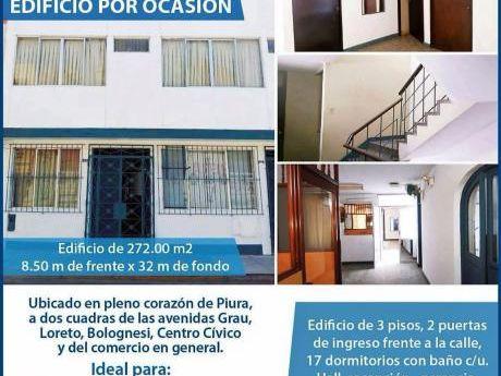 Edificio Tres Pisos Jr. Apurimac Piura - Costado CC Plaza Sol - Super Centrico