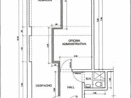 Oficina De 48 M2, Varios Ambientes, 1 Baño. Aire Acondicionado. Exterior