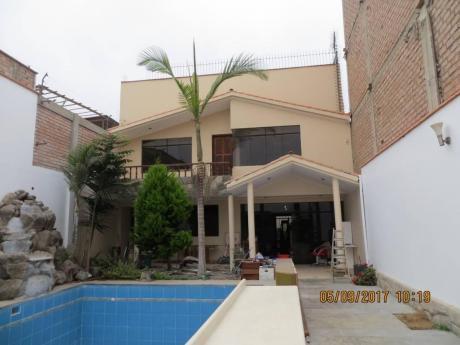 Id - 55858 Hermosa Casa Con Piscina En Chorrillos