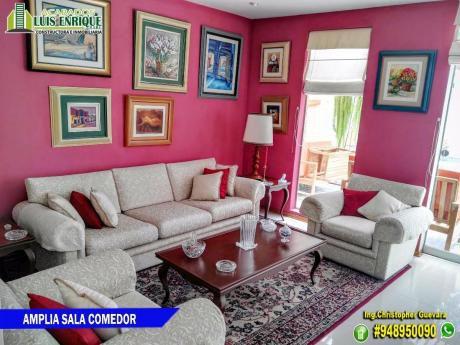 "Hermosa Casa 02 Pisos,185 M2,260 M2, En Palmas Reales Del ""golf"" A $379,000"