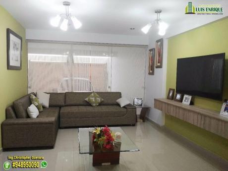 Amplia Y Moderna Casa 03 Pisos,05 Hab, 160 M2,300 M2, Cochera Doble, Urb. Golf