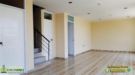 Casa Ideal,03 Pisos, Estreno,04 Hab, Cochera, San Isidro, Cerca Mall Aventura Plaza