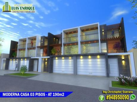 Moderna Casa 03pisos, Estreno,04 Hab, Cochera, A 02 Cuadras Upn San Isidro - $150,000