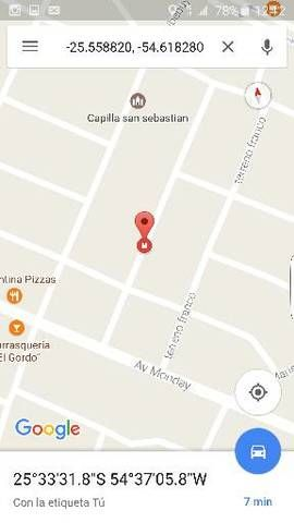 TERRENO: Vendo Terreno En Pdte. Franco Barrio San Sebastian en Presidente Franco
