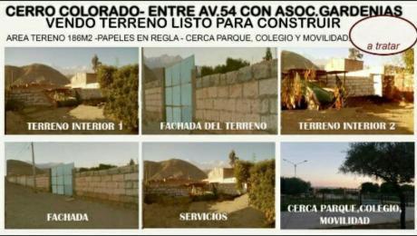 """Cerro Colorado A Cuadras De Villa Paraiso Con Av54 - """"vendo Terreno """""""