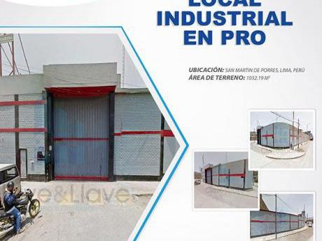 Terreno Industrial Smp - A. T.:1,032.29 M2 - Us$1,200 X M2
