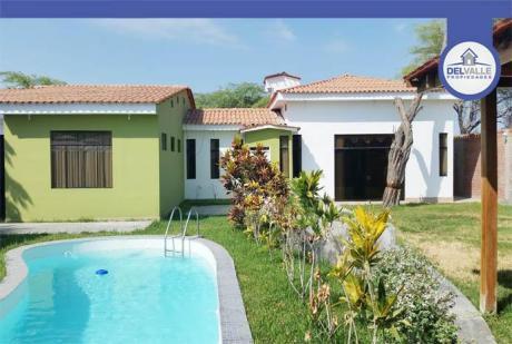 Alquiler De Bonita Casa En Los Ejidos - Piura | At. 754 M2.