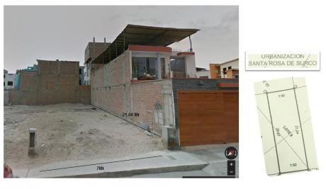 Terreno En Venta En La Urb Santa Rosa De Surco En Surco, 146 M2