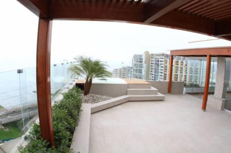 580 M2 Miraflores Malecon Penthouse Con Vistas Increíbles