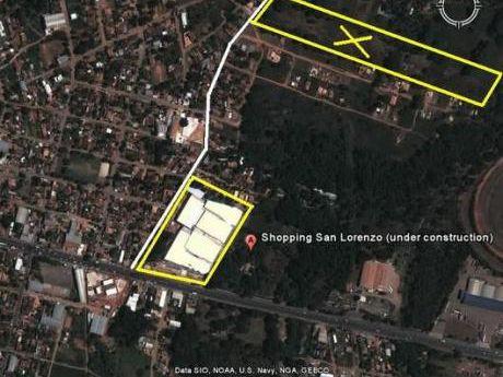 Atencion Inversionistas!!! Vendo 42.200 M2 Sobre Calle Asfaltada A Metros Del San Lorenzo Shoping