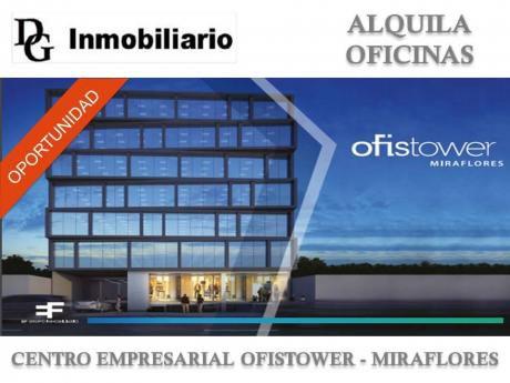 Alquila Oficina Duplex 264 M2 En Ce Ofistower - Miraflores