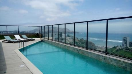 Miraflores. Alquiler De Departamento Amoblado Con Espectacular Vista Al Mar.