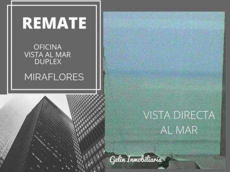 Remato Oficina Estreno En Miraflores Vista Al Mar Y 5 Cocheras