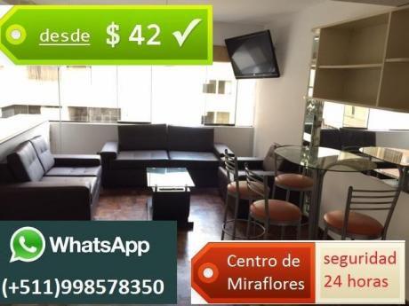 Departamentos Amoblados En Miraflores Desde $42, Tenemos Las Mejores Ofertas